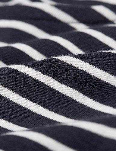 GANT Damen Langarmshirt Rib Stripe T-Shirt Marine