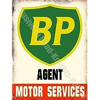 BP cartello insegna da parete in metallo - 15 x 20 cm, Acciaio - Deco Storage Box