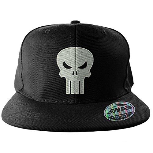 Offizielles Lizenzprodukt The Punisher Einstellbare Größe Snapback Kappe (Schwarz)