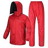 ZEMIN Wasserdicht Regenjacke Poncho Regenponcho Regencape Jacke Reiten Beidseitig Qualität Verschleißfest Hauben Ärmel Oxford-Tuch, 2 Farben, 4 Größen Verfügbar (Farbe : B, größe : XS)