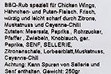 Texas Chicken, BBQ-Rub für Wings und Hähnchen, 250gr
