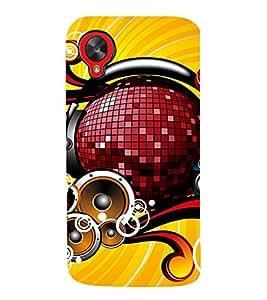 EPICCASE Music is Life Mobile Back Case Cover For LG Google Nexus 5 (Designer Case)