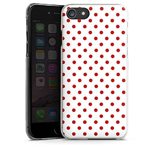 Apple iPhone 6s Hülle Case Handyhülle Muster Polka Punkte Weiß Rot Hard Case transparent
