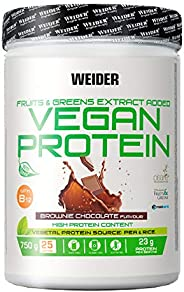 Weider Vegan Protein, Sabor Chocolate, Proteína 100% vegetal de guisantes (PISANE) y arroz, Sin gluten, Sin la