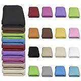 Qool24 Waffelpique Tagesdecke 100% Baumwolle viele Farben und Größen Sofaüberwurf Anthrazit 130 x 210 cm