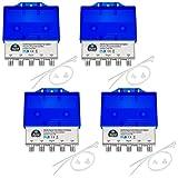 4x HQ DiseqC Schalter Switch 4/1 mit Wetterschutzgehäuse HB-DIGITAL 4x SAT LNB 1 x Teilnehmer/Receiver für Full HDTV 3D 4K UHD