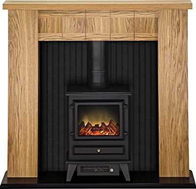Adam Ravensburg Stove Suite with Hudson Electric Stove in Black, 48 Inch
