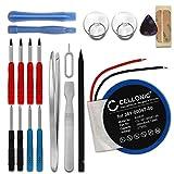 CELLONIC Batterie Compatible avec Garmin Approach S1 S3 S4 Forerunner 110 Forerunner 210 Forerunner S1, 361-00047-00 361-00064-00, 200mAh + Set Micro vissage Accu Rechange Remplacement