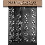 Dress My Cupcake DMCR005SET Chocolate Candy Mold, Bite Size Star of David, Set of 6