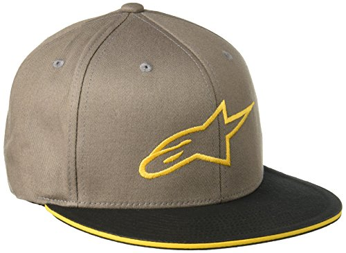Alpinestars Herren Ageless Logo Flat Bill Flex Back Hat, Grau, L/XL