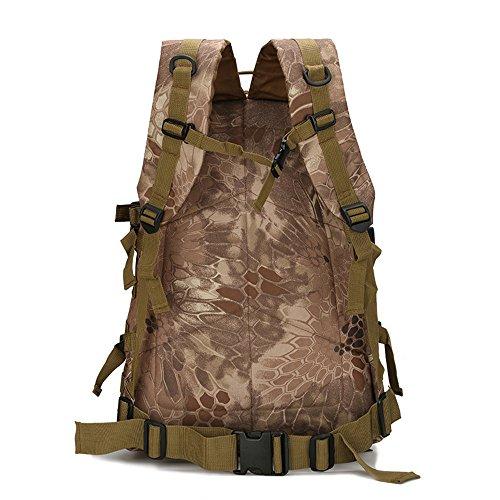 dohot Wasserdicht Military Army Patrol MOLLE Assault Pack Tactical Rucksack Tasche für Wandern Camping, 40L Python Tan