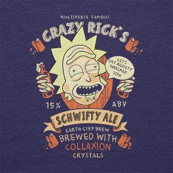 NERDO - Crazy Rick's Schwifty Ale - Damen T-Shirt Navy