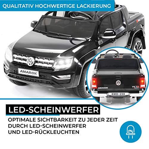 RC Auto kaufen Kinderauto Bild 6: Actionbikes Motors Kinder Elektroauto Volkswagen Amarok SUV Kinderauto Elektrofahrzeug Elektro VW 2 Personen Eva Reifen 2x35 Watt Motor (Schwarz)*