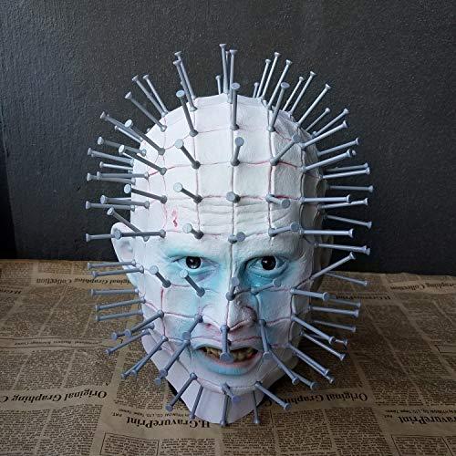 Ya1&Ya Gespenstisch jagen Seele Erwachsene Maske Nagel Latex Perücken Cos Halloween Horror Film Rollenspiel Hell City (Halloween-spiele Party City Bei)