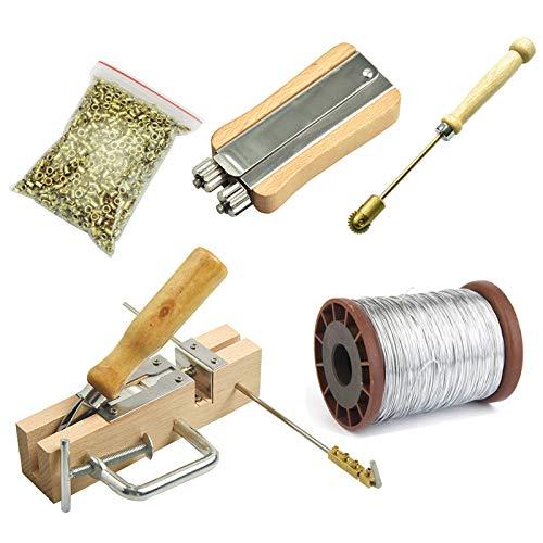 Noblik Bienen Zucht Werkzeug Ausrüstungs Rahmen Loch Perforations Begrabenes Draht Set + Kupfer Auge + Rahmen Locher + Stahl Draht + Metall Draht Spanner