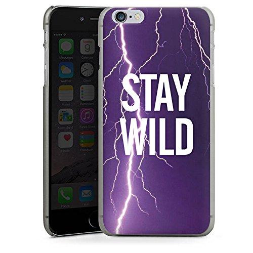 Apple iPhone X Silikon Hülle Case Schutzhülle Wild Sprüche Statement Hard Case anthrazit-klar