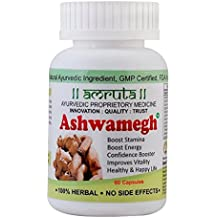 Ashwamegh Amruta Pharmaceutical Pure Herbal Ayurvedic 60 Capsules For Strength, Energy, Recovery