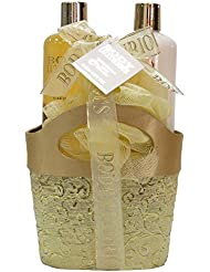 Gloss! Panier de Bain Body Luxurious 3 Pièces Vanille/Tilleul