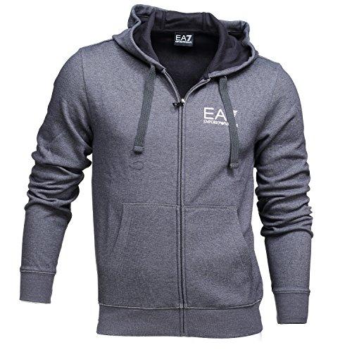 EA7 Emporio Armani Man Jersey Sweatshirt 6YPM69PJF3Z-3906 Herren Bluse (M, Dark Grey)