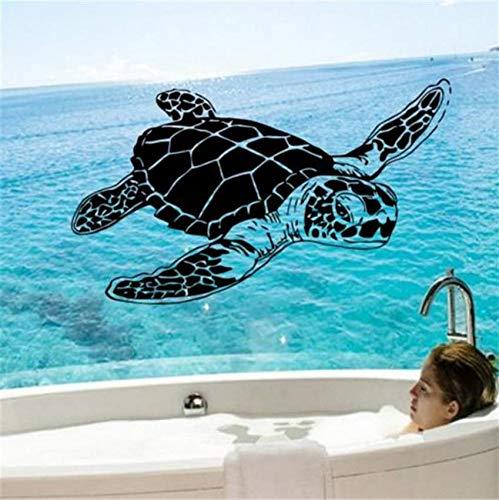 Hbbhbb Art Home Decoration Vinyl Sea Turtle Wandaufkleber Abnehmbare Haus Dekor Tier Schildkröte Abziehbilder Für Kinder Oder Kindergarten 99X58 Cm -