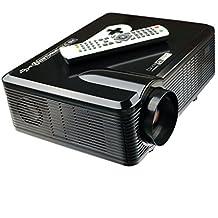 Excelvan - CL720D LED Proyector HD (3000 lúmenes, resolución 1280x800, HDMI VGA/ USB/ AV /Digital TV, altavoces incorporados), Negro