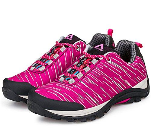 chaussures de marche adulte Unisexe demi Derbies antidérapants sportif hiver Sneakers Rose
