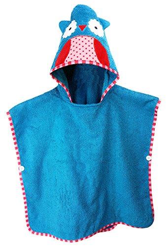 Kinder: Kinderhandtuch mit Kapuze - Handtuch Poncho mit Tiermotiv, Kapuzenhandtuch für Jungen und Mädchen ()