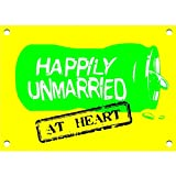 Happily Unmarried 'Happily Unmarried' Magnet (Yellow)