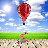 ECMQS Ballon Windmühle Kinder spielzeug, Glühen Spiral Garten Ornamente Bunte Outdoor Wind Spinner