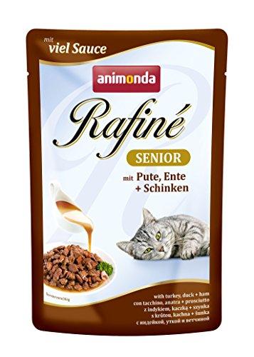 animonda Rafiné Senior Katzenfutter, Nassfutter für ältere Katzen ab 7 Jahen, verschiedene Geschmacksrichtungen, 12er Pack (12 x 100 g)