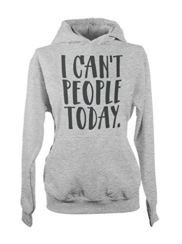 I Can't People Today Komisch Sarcastic Tired Damen Hoodie Sweatshirt Grau Medium