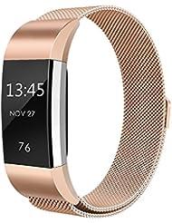 FitBit Charge 2 Bracelet, einBand acier inoxydable Milanaise bande de charge pour bracelet Fitbit Charge 2, Small, Large