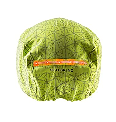 SEALSKINZ Men's Waterproof Halo Cycle Helmet Cover, Black/Reflective Print, One Size from SEALSKINZ