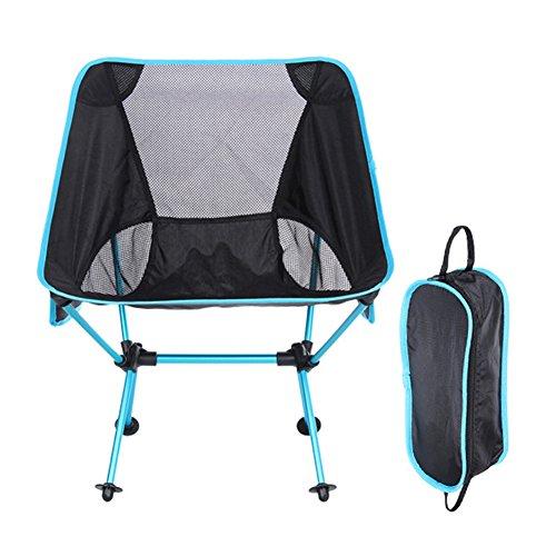 HAMSUNG Camping Klappstuhl, tragbar Strand Stuhl für Strand, Camp, Rucksackreisen, Outdoor Festivals, himmelblau (Sky Blau Camo Jungen)