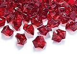 PartyDeco Cristalli Decorativi, Rosso, AC25-087-KARTON