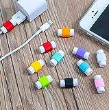 Shot Case - Lot x2 Protege Cable pour Cable Chargeur IPAD Air 2 Apple Anti-Casse Universel (Couleur Noir)
