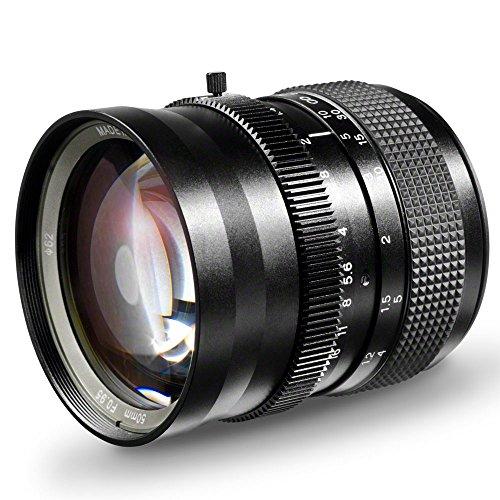SLR Magic Hyper Prime 50mm 1:0,95 Objektiv für Sony NEX (manueller Fokus, für APS-C Sensor gerechnet, IF, Filterdurchmesser 62mm, stufenlose Blendeneinstellung, inkl. Schutzdeckel) (E-mount Slr Magic)