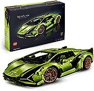 LEGO 42115 Technic Lamborghini Sián FKP 37 Rennwagen, Bauset für Erwachsene, Modellbausatz, Sammlerstück