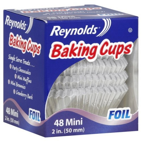 Reynolds Baking Cups Foil Mini 2 Inch 48 Ct by Reynolds Reynolds Baking Cups