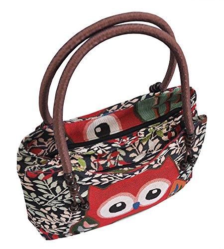 Tasche Handtasche Henkeltasche ***EULE*** Shoppertasche Schultertasche Eulenmotiv Umhängetasche - verschiedene Motive erhältlich - VINTAGE LOOK / absolut cool und stylish 42250
