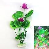 Xuniu plastica Artificiale Fiore di Loto Erba vegetale Acquatico Serbatoio di Pesce Ornamento Decorazione