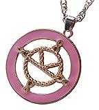 Kingsman: La médaille du service secret Collier des œufs Logo élastiqué en émail rose sur la chaîne plaquée d'argent
