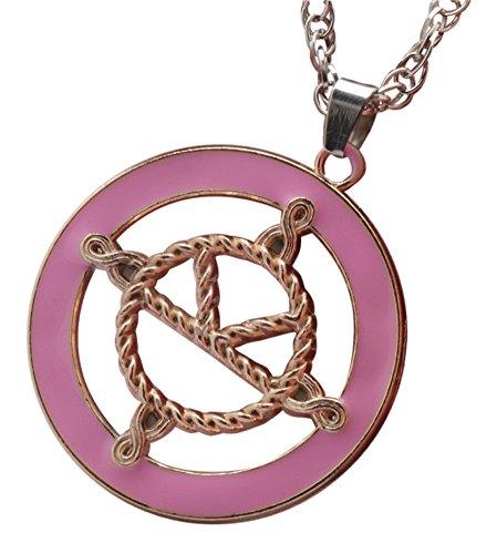 Kingsman: The Secret Service Medal Eggsys Halskette, vergoldet, rosa emailliertes Logo auf versilberter Kette (Film Fancy Dress Kostüme Uk)