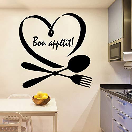 Diy Kitchen Bon Appetit Vinyl Kitchen Wall Stickers Wallpaper For Home Decoration Art Mural red M 30cm X 30cm -