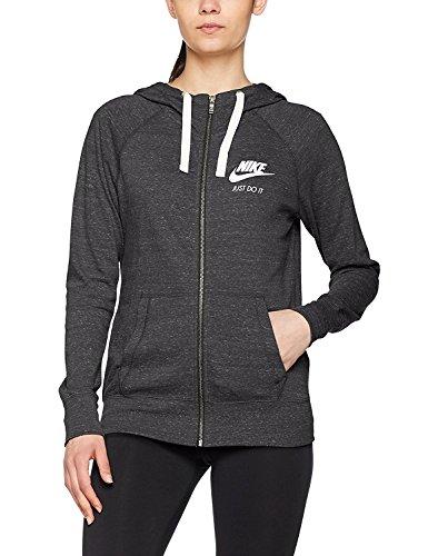 Nike Damen Vintage Kapuzen-Sweatshirt, schwarz (Black/Sail 010)), M