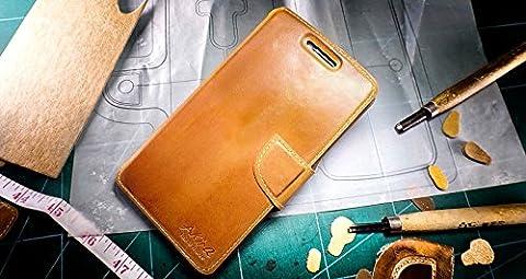 Original Akira Hand Made [Echt Leder] Handyhülle Nokia Lumia 930 Wallet Flip Cover Handgemacht Case Schutzhülle Etui Flip Wallet Pen [DEUTSCHER FACHHANDEL]