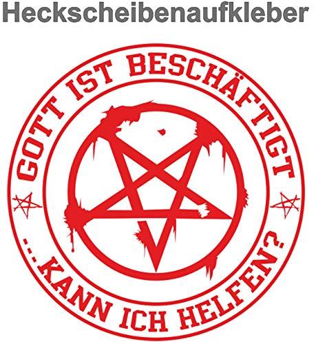 Pentagramm Aufkleber Gott ist beschäftigt, kann ich helfen?
