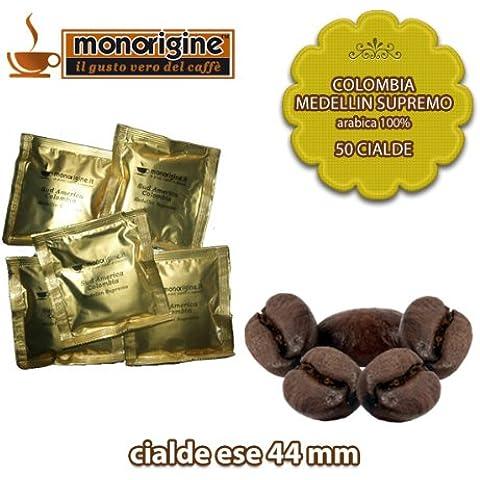 Caffè in 50 Cialde Compatibili Colombia Medellin Supremo - Caffè Monorigine Arabica 100%