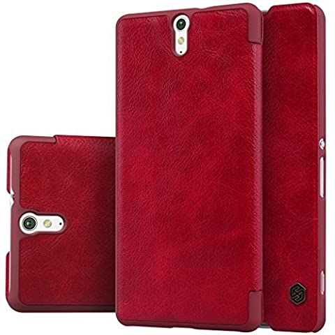 Nillkin XPERIAC5ULTRA-Qin-Red Ledertasche für Sony Xperia C5 rot