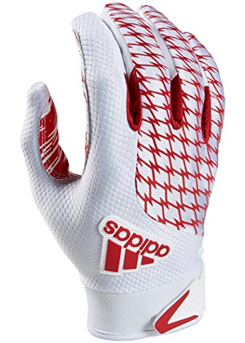 adidas adiFAST 2.0 Receiver American Football Handschuhe - weiß/rot Gr. S